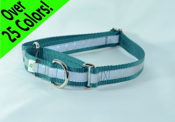 Reflective Martingale Dog Collar - 27 colors - any size