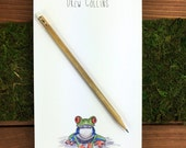 Tree Frog Notepad, Custom Note Pad, Frog Gifts, Custom Notepad, Note Paper, Cute Notepads, Magnetic Notepad, Frog Note Pad- 5.5 x 8.5