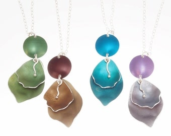 Romantic Rose Petal Pendant – Silver and Aluminum Jewelry - choose from four colors