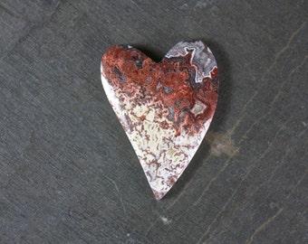Rosetta Crazy Lace Heart Cabochon
