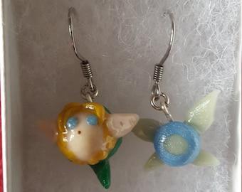 Link and Navi Earrings - Legend of Zelda Earrings, Navi Earring, Link Earring, Hey Listen Earrings