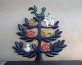 Vintage Homco Folk Art Wall Tree of Life