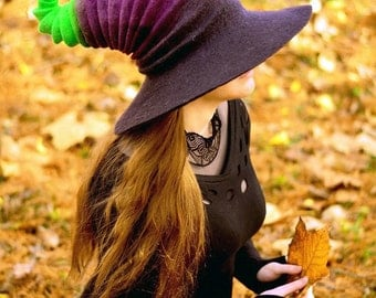 Halloween Witch Hat. Wizard Costume Hat. Fantasy Hat. Cosplay Hat. LARP.