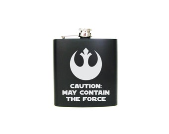 Star Wars Inspired Flask, The Force Awakens, Custom Flask, Personalized Insignia, Geekery, SciFi