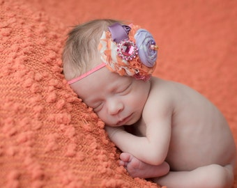 Soaring Heart- pink orange and purple headband  M2M Intuition Backgrounds Valentine backdrop