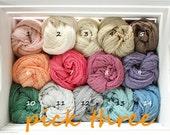 Three Cheesecloth Wraps, Big Cheese Cloth,  Baby Wrap, Baby Cocoon Wrap, Many Colors Cheese Cloth, RTS, Baby Boy Photo Prop, newborn Props