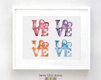 Love Original Watercolor