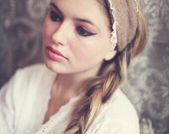 Flannel Spa Headband, Flannel Turban Head Wrap, Boudoir Make Up Headband