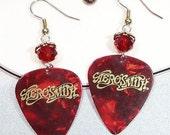 Aerosmith Earrings - Aerosmith Guitar Pick Earrings