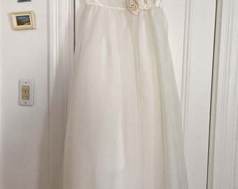 Vintage Flower Girl, Junior Bridesmaid, Formal Dress by Michaelangelo, Ivory, Girls Size 12, New w/Tag Wedding Bridal