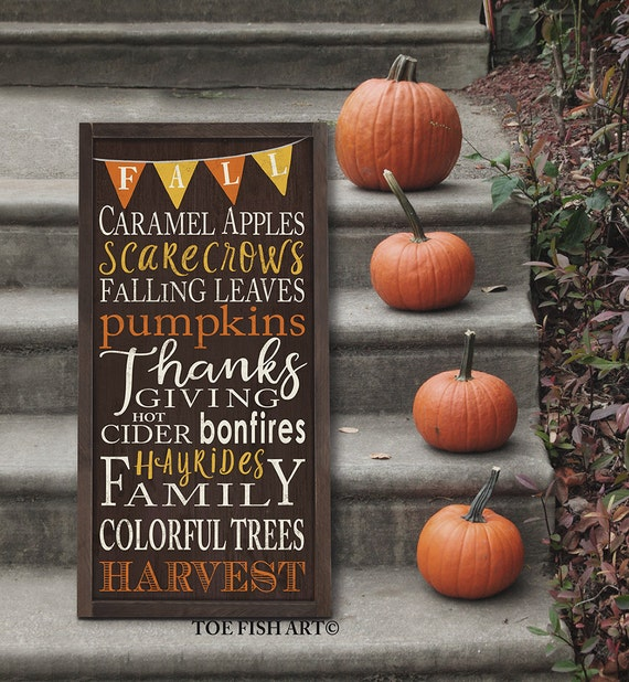 Autumn Fall Harvest Thanksgiving Sign Typography With