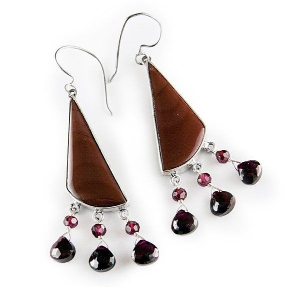 Garnet Royalty Earrings