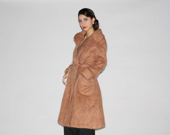 Vintage 1970s Mohair Women's Trench Jacket - Vintage 70s Trench - 1970s Mohair Coat  - WO0333