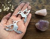 Hummingbird earrings, Hummingbird hoop earrings, bird earrings, bird jewelry