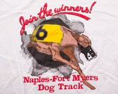 Greyhound Dog Racing T-Shirt, Join the Winners, Florida Track, Vintage 80s
