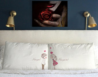 I love you too Pillow Cases  Funny  Gift  Wedding Perfect Couple  m45