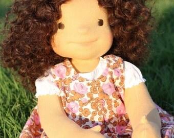 """Waldorf doll Dora 18"""" Gifts for Children birthday, OOAK dolls"""