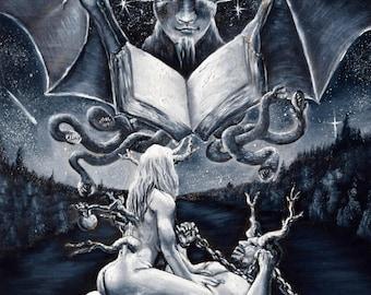 The Devil Tarot Card Painting