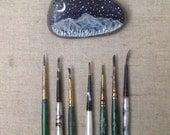 constellation art, valley of starlight, handpainted Rock, Elise mahan