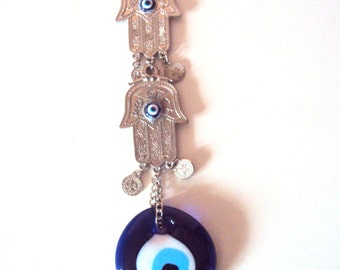 Hamsa Wall Hanging Charm Protection Accessories Positive Energy Evil Eye Good Luck Bead Gift For Her Free Shipment