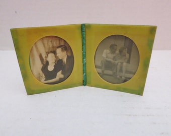 Vintage Celluloid Double Frame