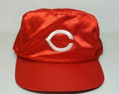 Sexy Satin Cincinnati Reds StrapBack Hat Embroidered