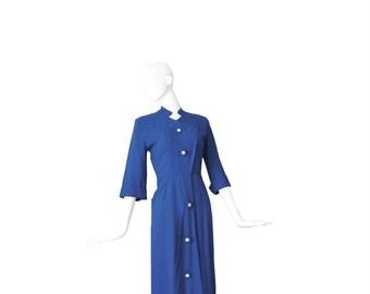 1940s Dress • 40s WWII Dress • Blue • XS Small S