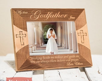 godfather frame personalized godfather gifts godfather picture frame from godchild engraved color choice