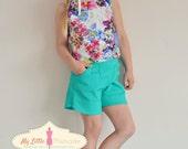 Girl Sewing Pattern - Crop Top Capsule Wardrobe PDF Pattern