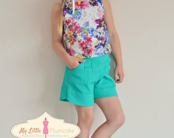 Girl Sewing Pattern - Crop Top Capsule Wardrobe PDF Pattern