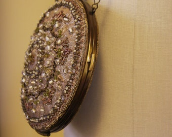 Silk Hand-Beaded Bridesmaid Clutch/Bag Taupe