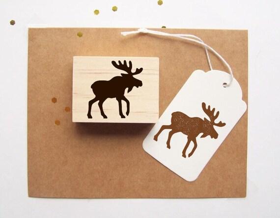 Moose Rubber Stamp
