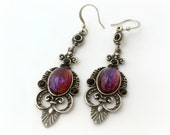 Dragon's breath medieval fantasy earrings, gothic gift for her