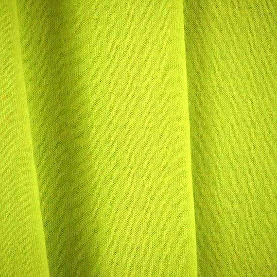 Circular Knitting Fabric : Chartreuse jersey s vintage circular knit by