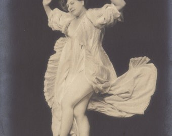 Falling. French Surrealism, circa 1900-'03 Vintage Postcard