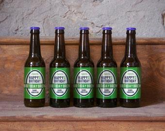 Custom Beer Bottle Labels Personalized Men Birthday Brew Favors Beer Labels Personalized Beer Waterproof Beer Labels Beer Stickers BL-1012