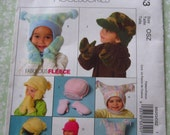 Infants and Toddlers Fleece Hats and Mittens Sizes XS S M L XL UNCUT McCalls Pattern M5253