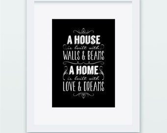 A House is Built... a Home is Built... Print