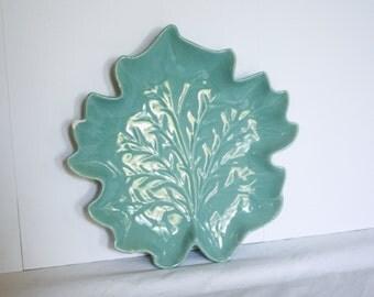 Royal Haeger Vintage Leaf Plate
