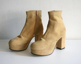 Suede Platform Boots 5.5