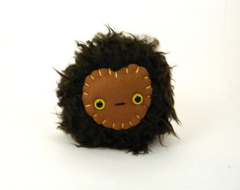 Small Stuffed Animal - Chocolate Brown Stuffed Monster - Plush Monster Toy - Stuffed Toy Ball - Stuffed Toy - Children's Gift