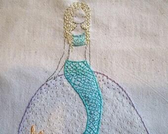 mermaids embroidery pattern pdf