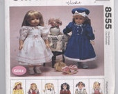 "McCall's 8555 18"" Doll Clothes Pattern - UNCUT - American Girl, Götz, Adora, Carpatina, Journey, Madame Alexander, Our Generation"