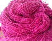 Fuchsia cashmere yarn, 160 yards,  Pure cashmere sport weight yarn, up-cycled cashmere sweater