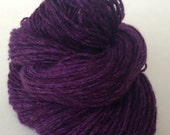Deep Purple cashmere yarn, 160 yards,  Pure cashmere sport weight yarn, up-cycled cashmere sweater