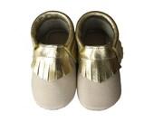 Leather baby moccasin toddler moccs soft-soled shoe handmade baby moccs