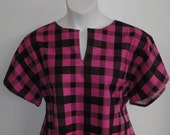 XS-3X - Post Surgery FLANNEL Shirt - Shoulder. Breast Cancer, Heart / Adaptive Clothing /  Hospice /  Breastfeeding - Style Gracie