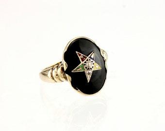 10K Gold  Eastern Star Ring Vintage OES
