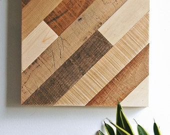 Wall Art Reclaimed Wood - Diagonal Pattern