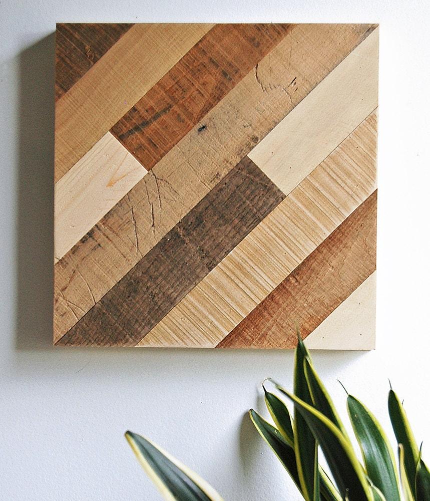 Wood Wall Patterns : Wall art reclaimed wood diagonal pattern